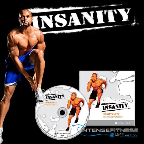 Insanity Sanity Check DVD with Shaun T from Beachbody